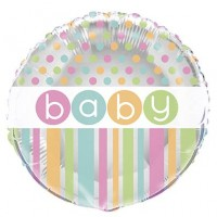 "18"" Foil Balloon Packaged  - Pastel - Baby Shower"