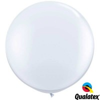 "White 36"" Standard (2CT) - Qualatex"