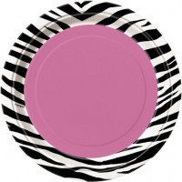 Zebra Passion 9'' Plates 8CT.