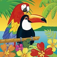 Luncheon Napkins - Tropical Island Luau - 16ct. 12pk.