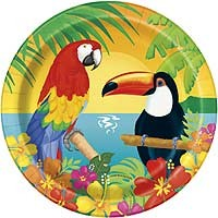 "7"" Plate - Tropical Island Luau - 8ct. 12pk."