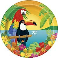 "9"" Plate - Tropical Island Luau - 8ct. 12pk."