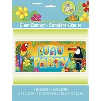 Giant Wall Banner - Tropical Island Luau - 1ct. 6pk.