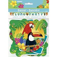 Large Jointed Banner - Tropical Island Luau - 1ct. 12pk.