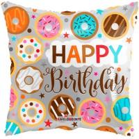 "Happy Birthday Donuts 18"" Foil Balloon"