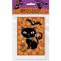 "Spooky Boots Plastic Treat Bags 6""H x 4""W 50CT."