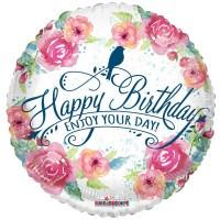 "Happy Birthday Enjoy Your Day 18"" Foil Balloon"