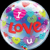 "I Love You Hearts 22"" Bubble"