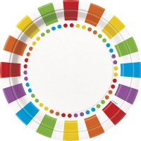 Rainbow Birthday 9'' Plates 8CT