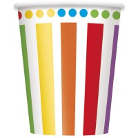 Rainbow Birthday 9oz Cups 8CT