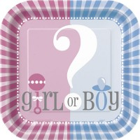 Gender Reveal 9'' Square Plates