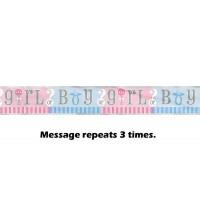 Gender Reveal Foil Banner 12ft
