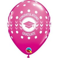 "Congratulations Graduate Dots 11"" Round Latex 25ct"