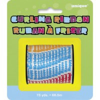 Happy Birthday Printed Curling Ribbon - 75yds