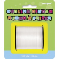White Curling Ribbon - 100yds