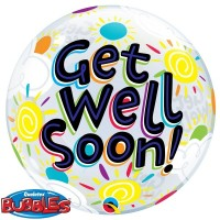 "Get Well Soon - 22"" Single Bubble"