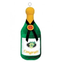 Champagne Bottle Plush Balloon Weight (Box of 6)