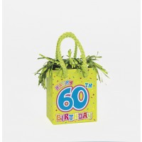 Giftbag Weight - Happy 60th Birthday - (Box of 6)