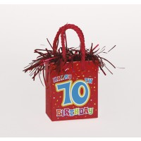 Giftbag Weight - Happy 70th Birthday - (Box of 6)