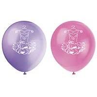 "12"" Balloons - Pink Ballerina - 8ct."