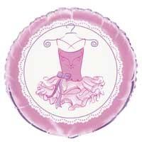 """Pink Ballerina 18"""" Foil Balloon Packaged"""