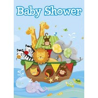 Invitations - Noah's Ark - Baby Shower 8 Ct. 12 Pk