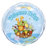 "18"" Foil Balloon Packaged - Noah's Ark - Baby Shower 1 Ct. 5 Pk"