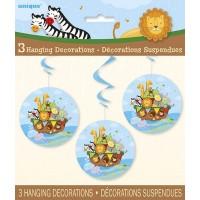 "Hanging Swirl Decorations 26""L - Noah's Ark - Baby Shower 3 Ct. 12 Pk"