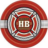 "7"" Plates - Fire Truck - 8ct."