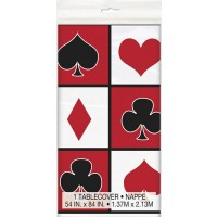 "Plastic Tablecover 54"" x 84"" - Casino Party 1 CT."