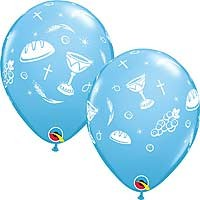 "Communion Elements Blue - 11"" Latex Balloon (25CT)"