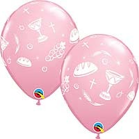 "Communion Elements Pink - 11"" Latex Balloon (25CT)"