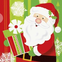 Luncheon Napkins - Happy Santa 16CT.