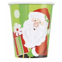 9 Oz. Cups - Happy Santa 8CT.