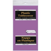 """Pretty Purple Plastic Tablecloths 54""""x108"""""""
