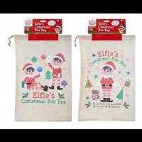 Non Woven Elf Christmas Eve Bag 36CM X 55CM