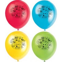 "12"" emoji Latex Balloons - 8ct - Printed 2 Sides"