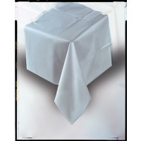 "Silver Plastic Tablecover 54""x108"""