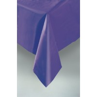 "Deep Purple Plastic Tablecover 54""x108"""