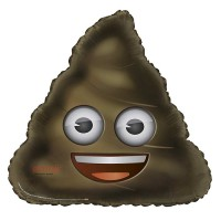 "28"" Giant Shaped Foil Balloon - emoji Poop - Packaged"