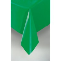 "Emerald Green Plastic Tablecovers 54""x108"""