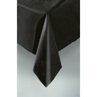 "Midnight Black Plastic Tablecover 54""x108"""