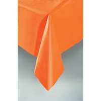 Pumpkin Orange Plastic Table Cover