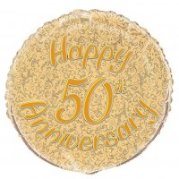 "Happy 50th Anniversary 18"" foil balloon"