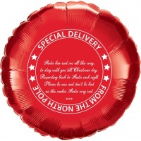 "Special Delivery From The North Pole - 18"" Foil Balloon"