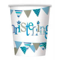 Christening Blue 9oz Cups 8CT.