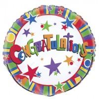 "Congratulations - Stars - 18"" Foil Balloon"