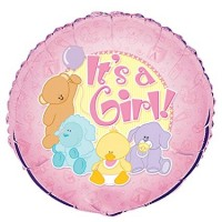 "It's a Girl -  18"" Foil Balloon"