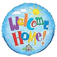 "Welcome Home x5 - 18"" Foil Balloons"