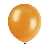 "5"" Latex Balloon - Pumpkin Orange - 72ct."